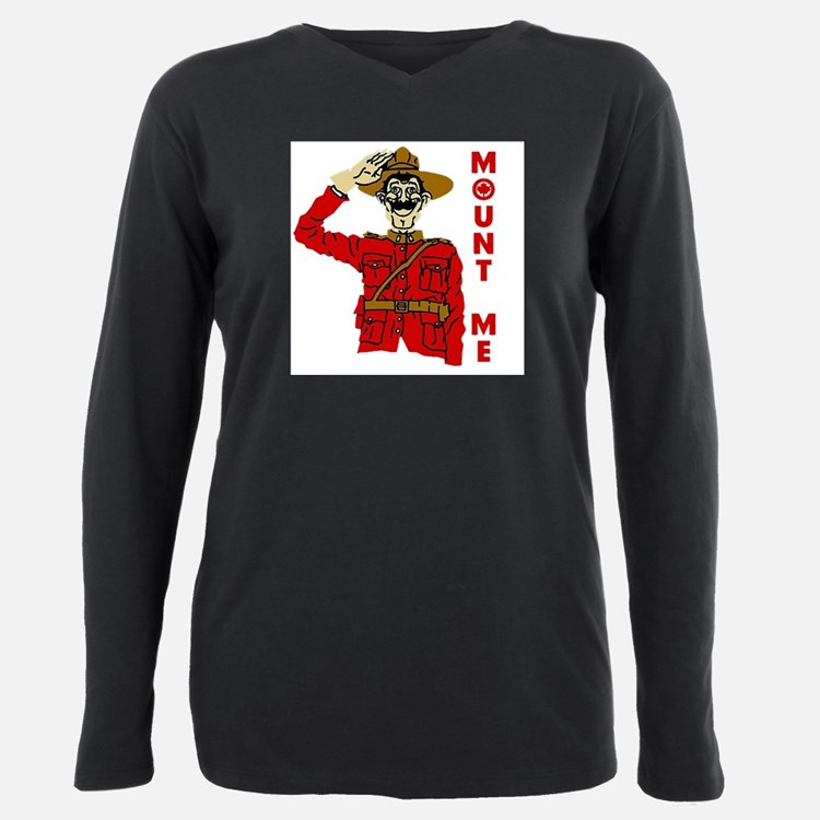 Cute Funny canadian Plus Size Long Sleeve Tee