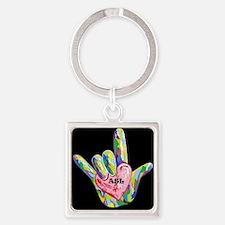 I Heart ASL Keychains