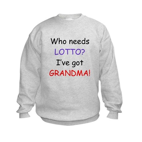 Who needs lotto Kids Sweatshirt