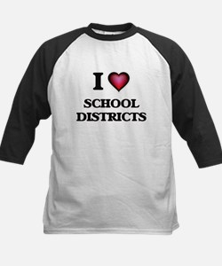 I Love School Districts Baseball Jersey