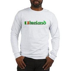 IRELAND with Irish flag Long Sleeve T-Shirt