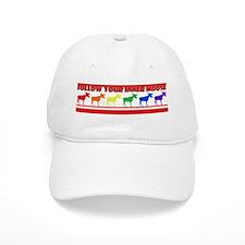 Rainbow Moose Baseball Cap