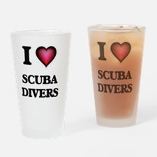 I Love Scuba Divers Drinking Glass