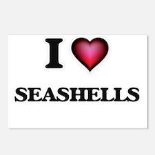 I Love Seashells Postcards (Package of 8)