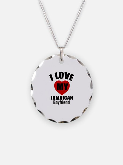 I Love My Jamaica Boyfriend Necklace