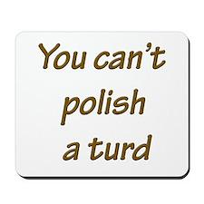 You can't polish a turd Mousepad
