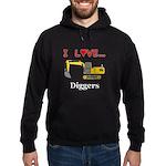 I Love Diggers Hoodie (dark)