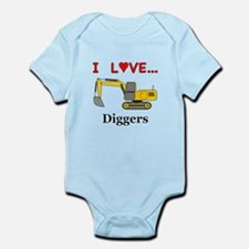 I Love Diggers Infant Bodysuit