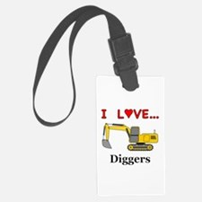 I Love Diggers Luggage Tag