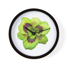 Gold w/ Purple Eye Daylily Wall Clock