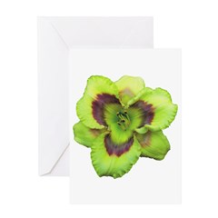 Gold w/ Purple Eye Daylily Greeting Card