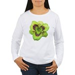 Gold w/ Purple Eye Daylily Women's Long Sleeve T-S