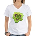 Gold w/ Purple Eye Daylily Women's V-Neck T-Shirt