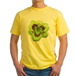 Gold w/ Purple Eye Daylily Yellow T-Shirt