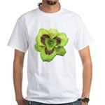 Gold w/ Purple Eye Daylily White T-Shirt