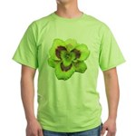 Gold w/ Purple Eye Daylily Green T-Shirt