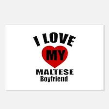 I Love My Malta Boyfriend Postcards (Package of 8)