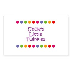 Uncle's Little Twinkles Rectangle Decal