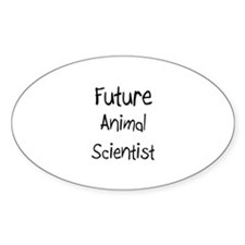 Future Animal Scientist Oval Decal