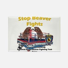 Stop Beaver Fights Rectangle Magnet