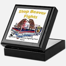 Stop Beaver Fights Keepsake Box