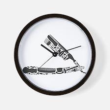 barber razor collage Wall Clock