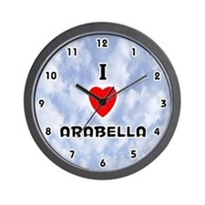 I Love Arabella (Black) Valentine Wall Clock