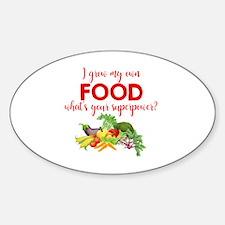 Cute Food Sticker (Oval)
