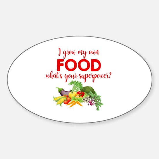 Cute Gardening Sticker (Oval)