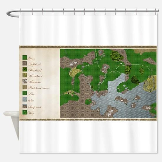 RPG Map Cuanscadan Shower Curtain