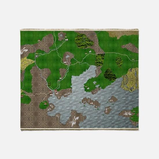 RPG Map Cuanscadan Throw Blanket