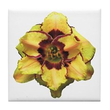 Peach Double Daylily Tile Coaster