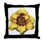 Peach Double Daylily Throw Pillow