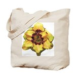 Peach Double Daylily Tote Bag