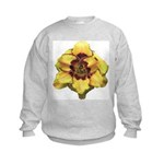 Peach Double Daylily Kids Sweatshirt