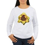 Peach Double Daylily Women's Long Sleeve T-Shirt