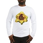 Peach Double Daylily Long Sleeve T-Shirt