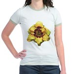 Peach Double Daylily Jr. Ringer T-Shirt
