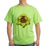 Peach Double Daylily Green T-Shirt
