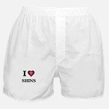 I Love Shins Boxer Shorts
