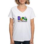 Boston Ball Breaker Women's V-Neck T-Shirt