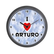 I Love Arturo (Black) Valentine Wall Clock