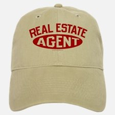REAL ESTATE AGENT (Red) Baseball Baseball Cap
