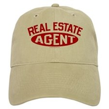 REAL ESTATE AGENT (Red) Baseball Cap