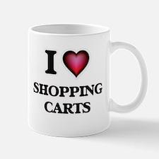 I Love Shopping Carts Mugs