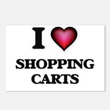I Love Shopping Carts Postcards (Package of 8)