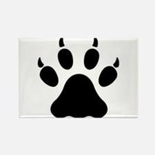 Cat Claw Print Rectangle Magnet