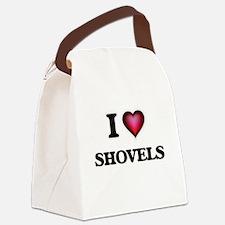 I Love Shovels Canvas Lunch Bag