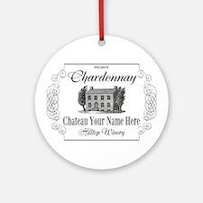 Classic Custom Chardonnay Round Ornament