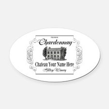 Classic Custom Chardonnay Oval Car Magnet